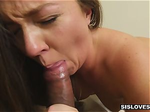 Stepsis is given curing cum up the butt and all over the face