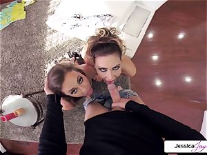 Abigail Mac and Jessica get ravaged in many postures