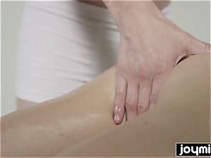 JOYMII Katy Rose dribbling humid massage for tight fuckbox