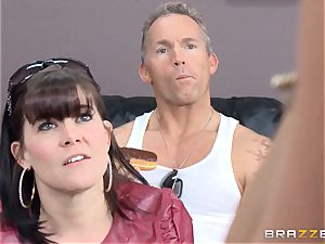 Summer Brielle is spread broad open by a bbc