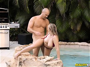 Bailey Brooke outdoor pool wood sucker