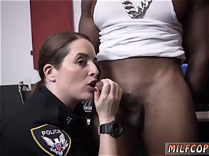 antique cougar young first time raw vid grips cop penetrating a deadbeat daddy.