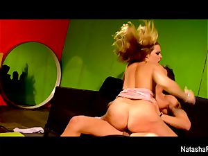 cool dark-haired Natasha receives a poon pummeling