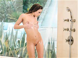 super-hot raw Sydney Cole bathroom getting off