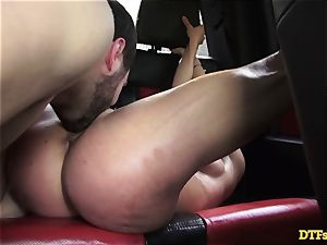 James Deen takes milf Cherie Deville for a rail on his stiffy in the car