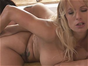 immense breasted lesbos Alison Tyler and Stormy Daniels