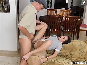 old granddad spunk shot gal internal ejaculation railing the elderly spunk-pump!