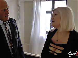 AgedLovE Lacey Starr plowed rock hard with Sales Agent