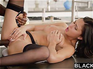 super-hot pop star Ariana rides a gigantic black cock