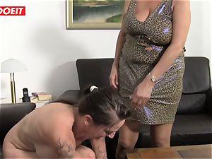 LETSDOEIT - Mature Swinger couple Help Their granny cum
