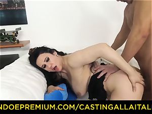 casting ALLA ITALIANA brown-haired nymphomaniac rough anal invasion fuck-fest