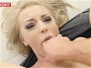 LETSDOEIT - steamy platinum-blonde rump banged gonzo by Stranger