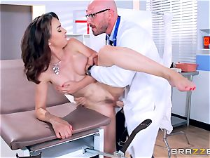 Cytherea is left splattering as she visits the physician