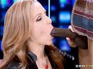 Julia Ann has a taste of a yam-sized black fuck-stick