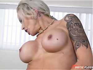 torrid bootie blonde Nina Elle tucked in her minge