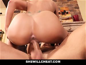 cuckold hubby watches Wifes gash Get wrecked