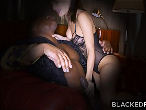 BLACKEDRAW wife likes his big ebony meatpipe a lil' too much