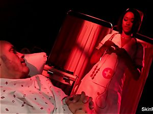 Nurse flesh gets anally porked by her patient