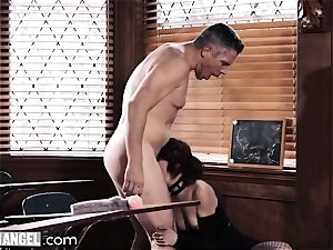 punk masturbating In Detention is anally punished