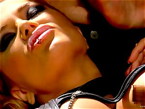 Shyla Stylez takes this firm spear deep in her cock-squeezing culo
