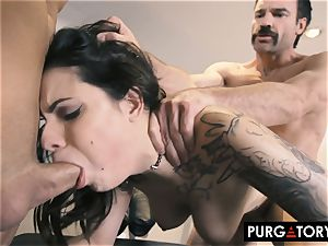PURGATORY I let my wifey poke two fellows in front of me