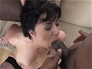 hotwife training Wathcing wifey have first-ever interracial