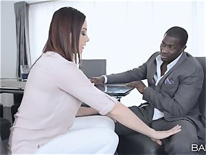 Chanel Preston couldn't wait to attempt that big black cock