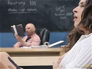 Ashley Adams pulverizing her lecturer