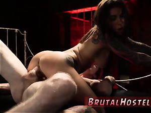raunchy restrain bondage and restricted down hard rectal thrilled youthfull tourists Felicity Feline and Jade