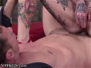 Rocco Siffredi Has Felxible beotches ride man-meat with backside!