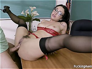 college girl gets into Vicki chase's school of seduction