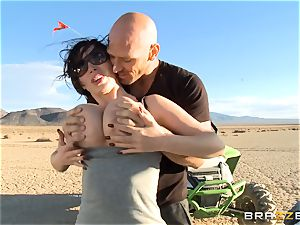 Nikki Benz railing on Johnny Sins giant man-meat