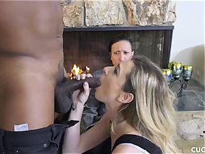 dark-hued stud drills his chief whorey wife Dahlia Sky