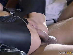 rough in rubber Romi Rain gets humped by 3 scorching spears