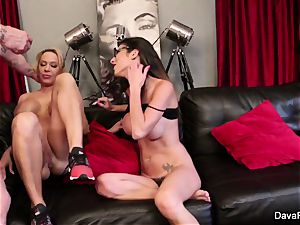 point of view sucking and ravaging with Dava Foxx and Alyssa Lynn