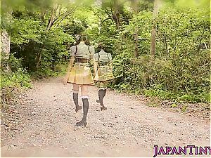 little japanese Mihono Sakaguchi boned in car