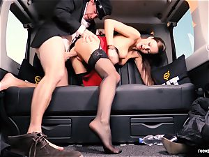 plumbed IN TRAFFIC - british Tina Kay plumbed in the car