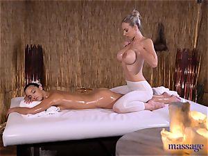 massage rooms mind-blowing brown-haired Amirah Adara