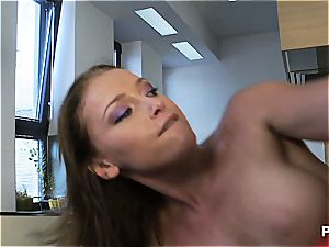 mouth-watering Kathia's working up a sweat today