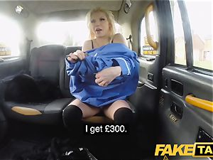 faux taxi big-boobed naughty nurse pisses and rough pounding