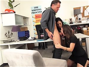 lecturers London Keyes and Jade Nile drill a college girls father