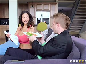 Ava Addams is boned in both her wet fuck holes
