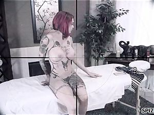 Spizoo - Anna Bell Peaks is plowed by a enormous stiffy