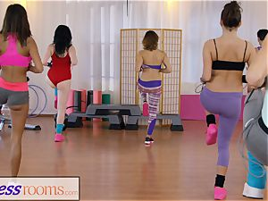 fitness apartments gym nymphs have lesbo threeway