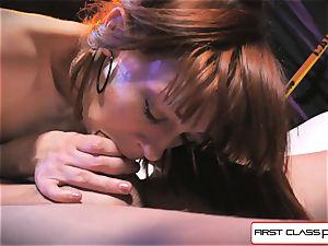 very first Class point of view - Alexa Nova sucking a enormous sausage in point of view