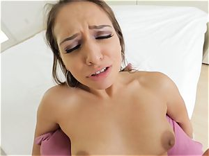 mind-blowing Sara Luvv giving a super-steamy point of view deep throat and screw