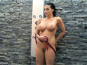Aletta Ocean wild gal taking a shower nude