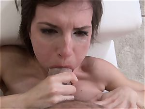 Nina gets a total loads of fresh cum from Rocco Siffredi
