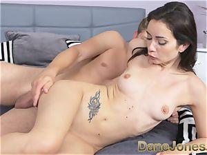 Dane Jones smallish freckled Italian damsel gets internal ejaculation