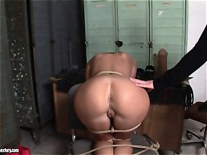 Kathia Nobili lets a hot dame fellate her strap on